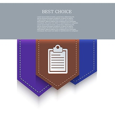 bookmark icon Eps10 vector image vector image