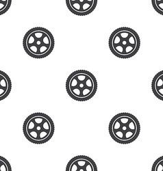 car wheel seamless pattern vector image vector image