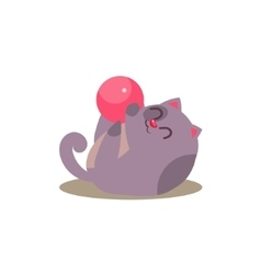 Cat playing with ball vector