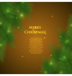 christmas card with spruce branchesillumination vector image