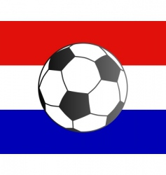 flag of the Netherlands and soccer ball vector image