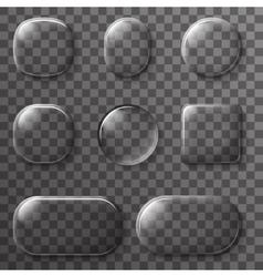 Glass app ui buttons icons transparent design vector