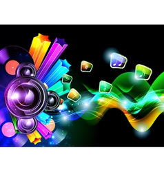music speacker background vector image
