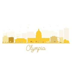 Olympia City skyline golden silhouette vector image vector image