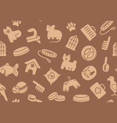 pets care seamless background vector image