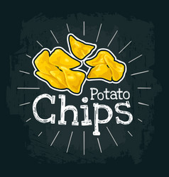 Potato chips flat with vector