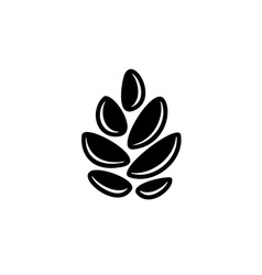 Simple cereal sign Pine cone or hop symbol Wheat vector image