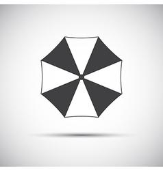Simple grey beach umbrella icon vector image vector image
