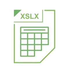 XSLX file icon cartoon style vector image vector image