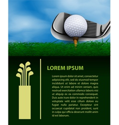 Golf design template vector image vector image