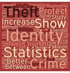 Identity Theft Statistics text background vector image vector image