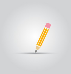 pencil isolated colored icon vector image