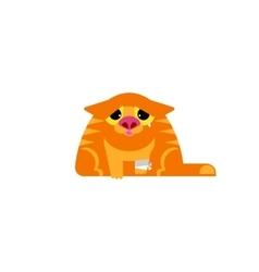 Sick cat vector image