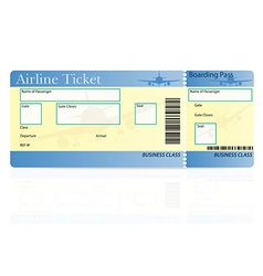 airline ticket 03 vector image vector image