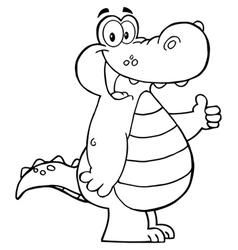 Alligator fun vector image vector image