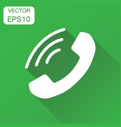 phone icon business concept contact support vector image