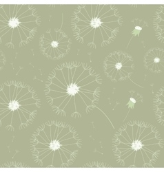 Seamless dandelions pattern vector image vector image