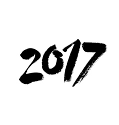 2017 Hand drawn lettering vector image vector image