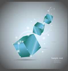 Abstract cubes with glow eps10 vector image