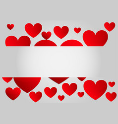 Abstract red paper hearts background vector