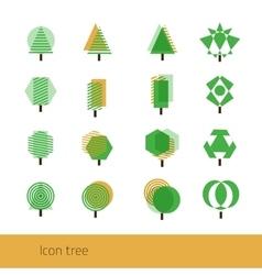 Icon Tree Yellow vector image