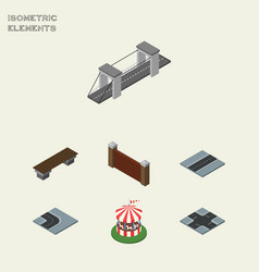 isometric architecture set of carousel highway vector image vector image