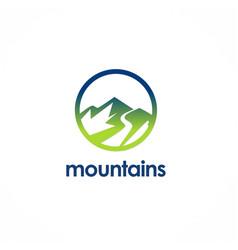 mountain logo vector image vector image