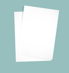 paper on a blue background mock up vector image vector image