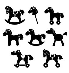 Set of horsess silhouettes vector image vector image
