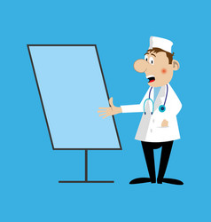 a medical doctor flipchart vector image