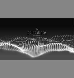 abstract monochrome particle wave points vector image