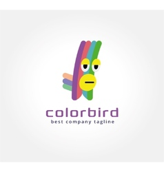 Abstract parrot monster logo icon concept Logotype vector image