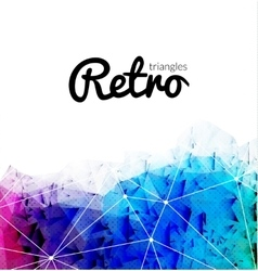 Abstract retro triangular background colorful vector