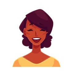 African girl face laughing facial expression vector