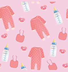 baby stuff seamless pattern vector image