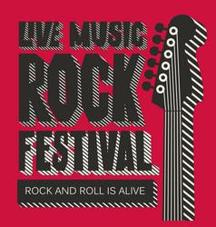 banner for rock festival of live music vector image