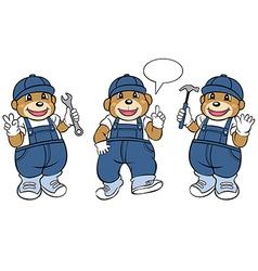 Bear Mechanic Mascot vector image