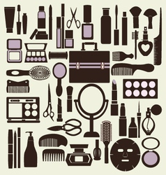 beauty pattern makeup cosmetic vector image