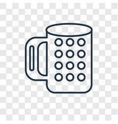 Beer concept linear icon isolated on transparent vector