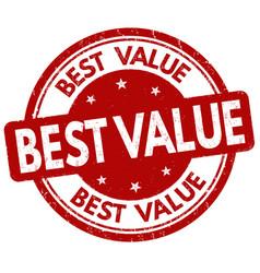 best value grunge rubber stamp vector image