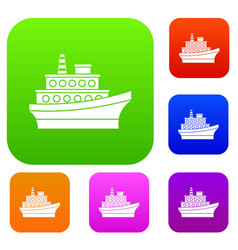 big ship set collection vector image