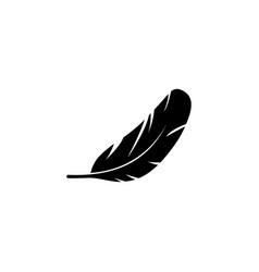 Bird wing feather nib pen plumage flat icon vector