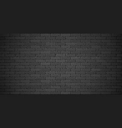 Black brick wall texture vector
