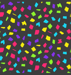 bright dark pattern with color hand drawn blotches vector image
