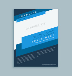 Brochure template design in modern style vector