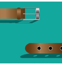 Brown leather belt vector image