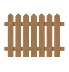 Brown wooden fence vector
