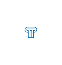 building line gate logo vector image