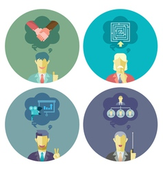 Business and Management set 1 vector