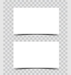 Business card blank paper template realistic vector